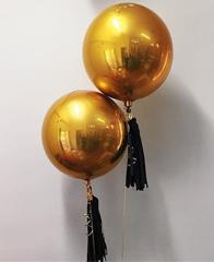 Фольгированный шар сфера Gold, 43 см