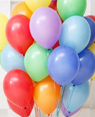 Гелиевые шары пастель без рисунка