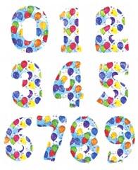 """Цифры фольгированные 40"""" с шариками"""