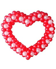 Сердце из шаров двухцветное