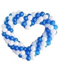 Сердце сине-белое