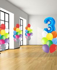 Оформление вечеринки шарами № 1