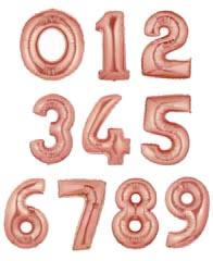 """Цифры фольгированные 40"""" Розовое золото"""
