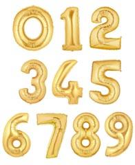 """Цифры фольгированные 40"""" Золото"""
