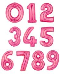 """Цифры фольгированные 40"""" Розовый металлик"""