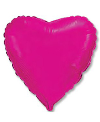 Сердце Металлик Fuchsia 46 см