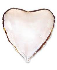 Сердце Металлик Silver 81 см