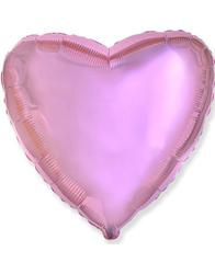 Сердце Металлик Pink 46 см