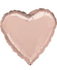 Сердце Металлик Rose Gold 46 см