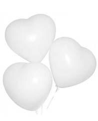 Латексный шар сердце белое