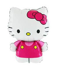 Фольгированный шар Hello Kitty розовая