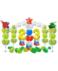 Оформление шарами на 23 февраля № 1