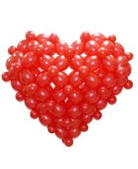 Сердце 3-D из шаров  для запуска